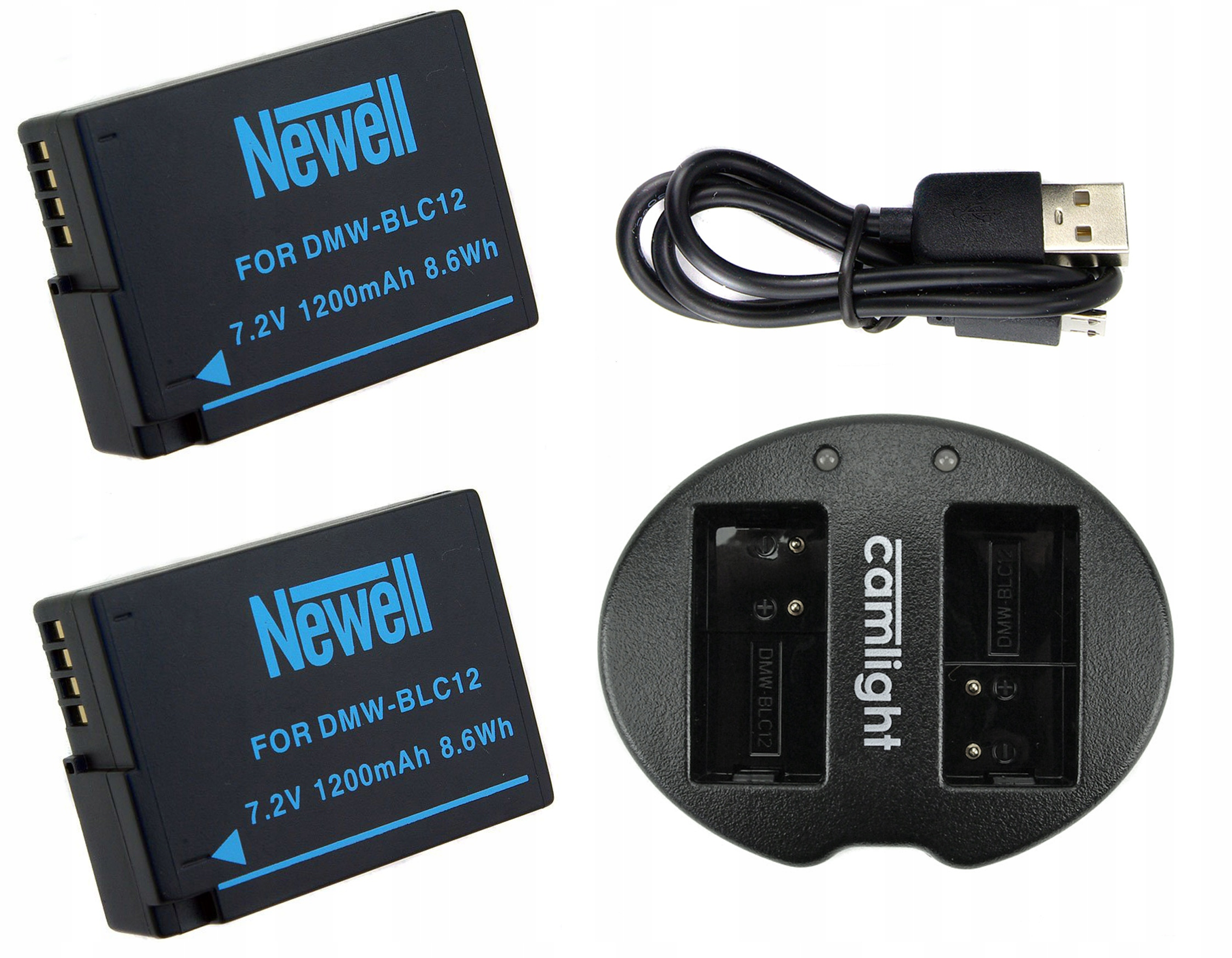 Nabíjačka 2x Batéria pre Panasonic DMW-BLC12E
