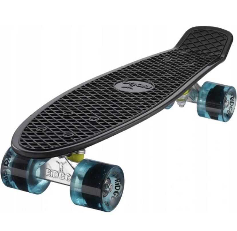 Čierny skateboard Retro Ridge Mini Cruiser 55 cm