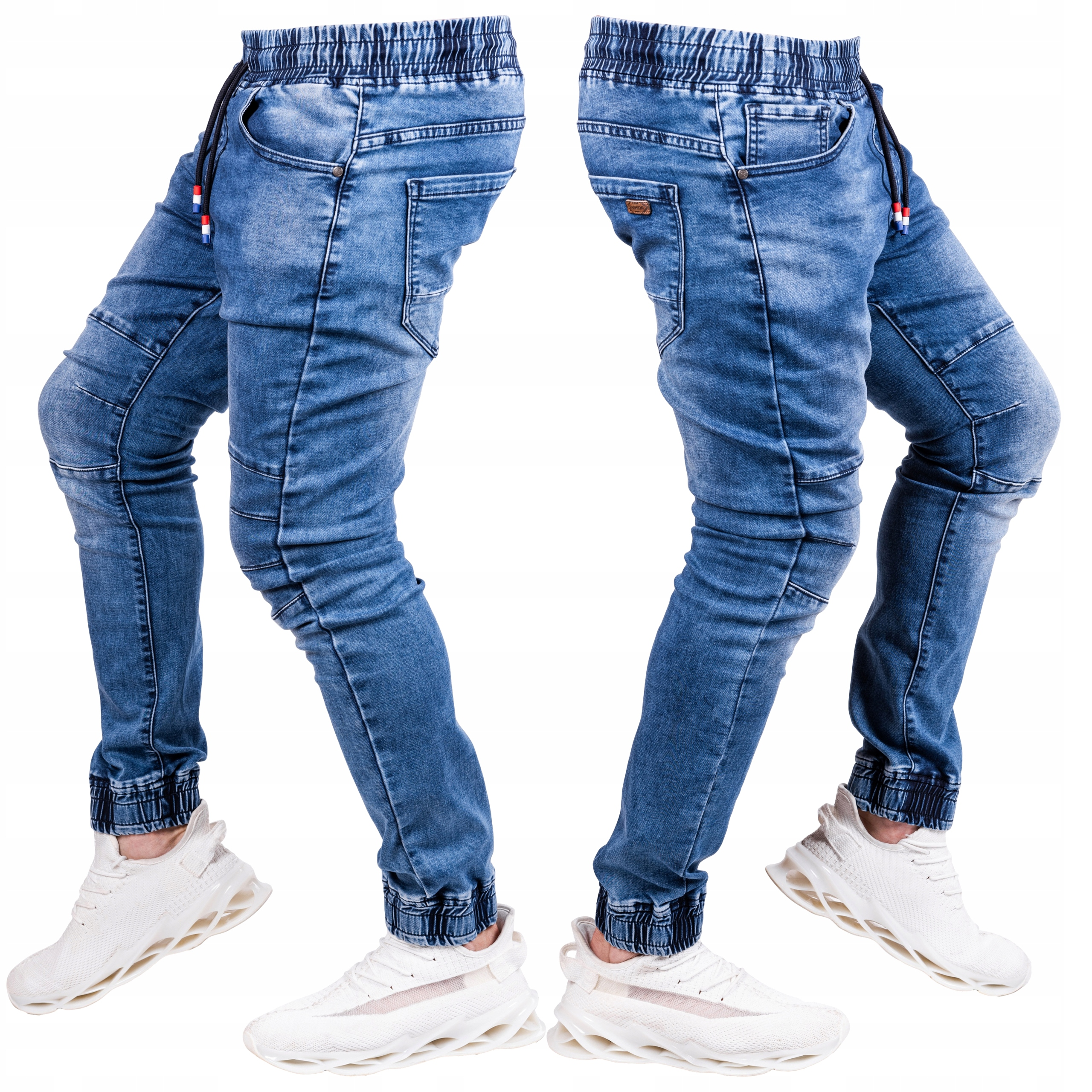 R.34 spodnie męskie JEANS joggery przeszycia Rose
