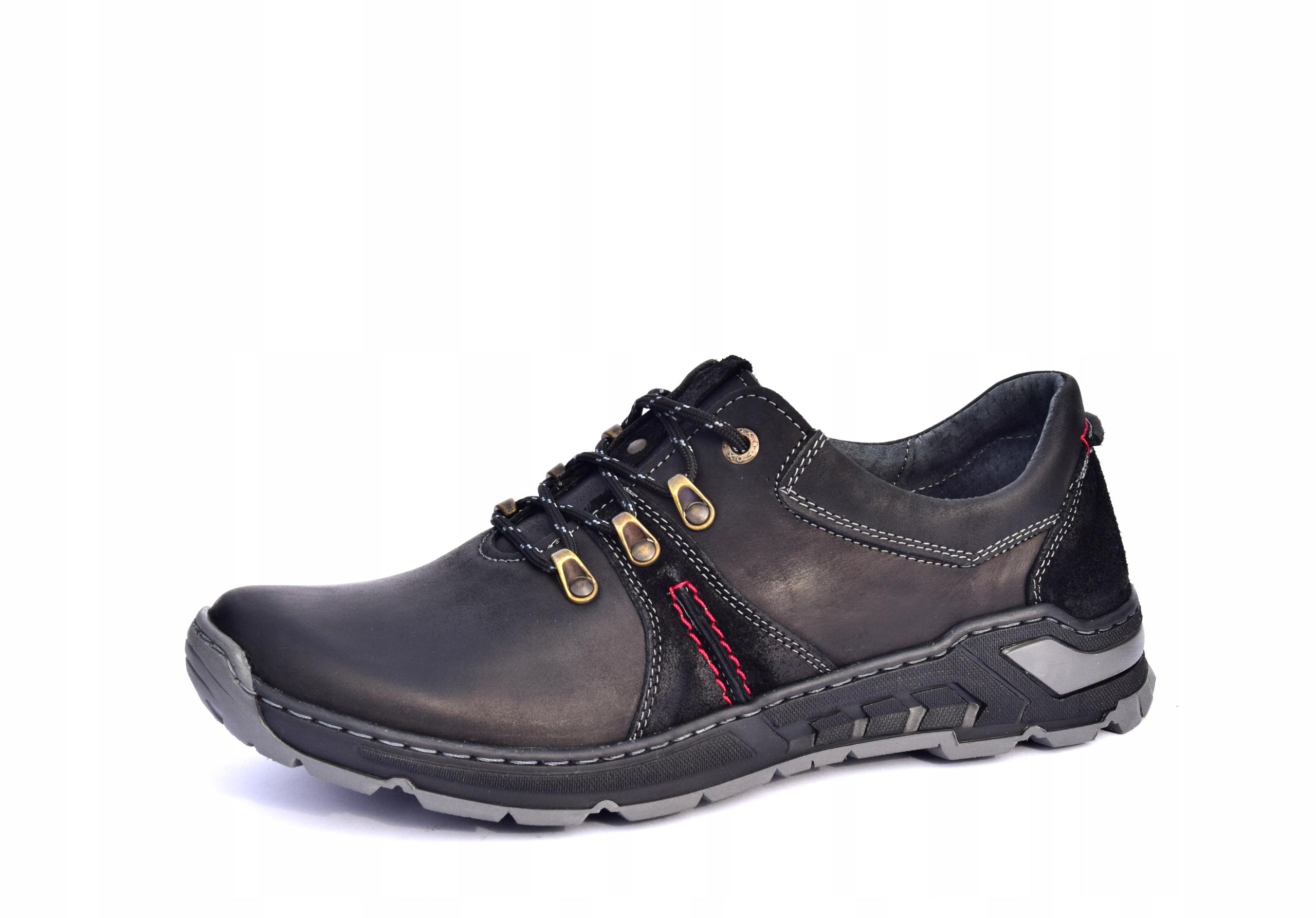 Półbuty trekkingowe obuwie skórzane polskie 0242
