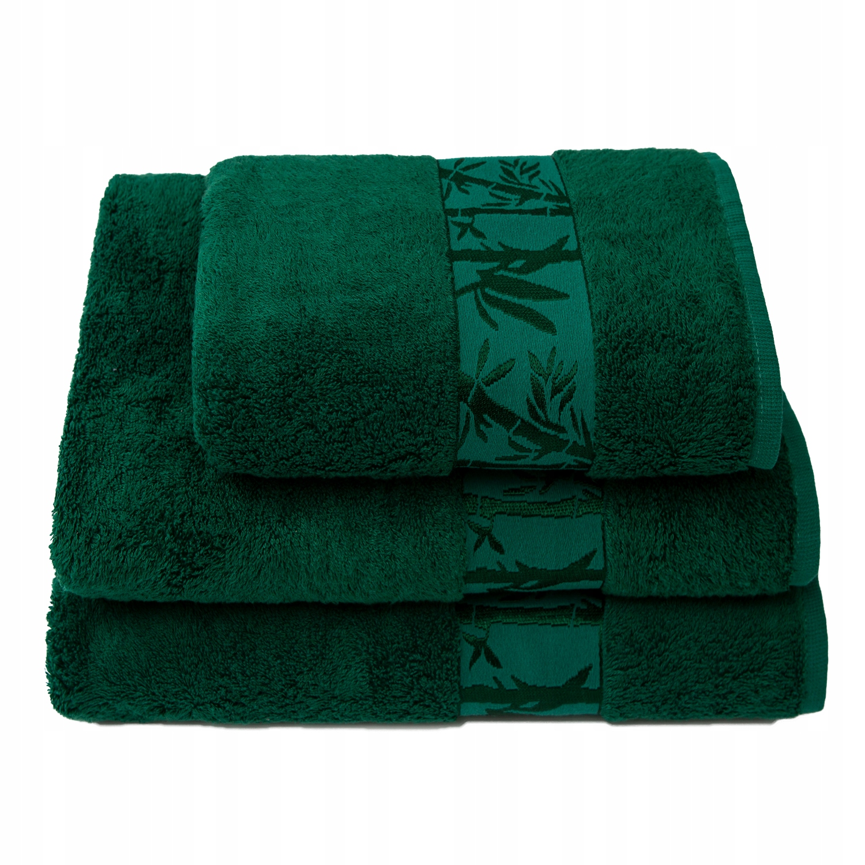 Полотенце декоративное впитывающее бамбуковое 70x140см зеленое