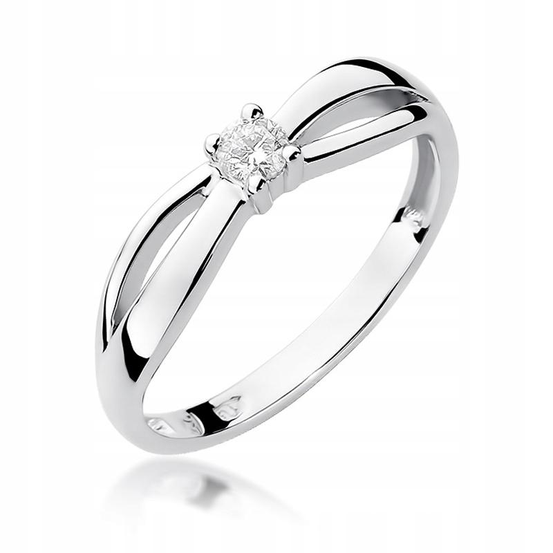 Diamantový prsteň biele zlato 585 RYTCA