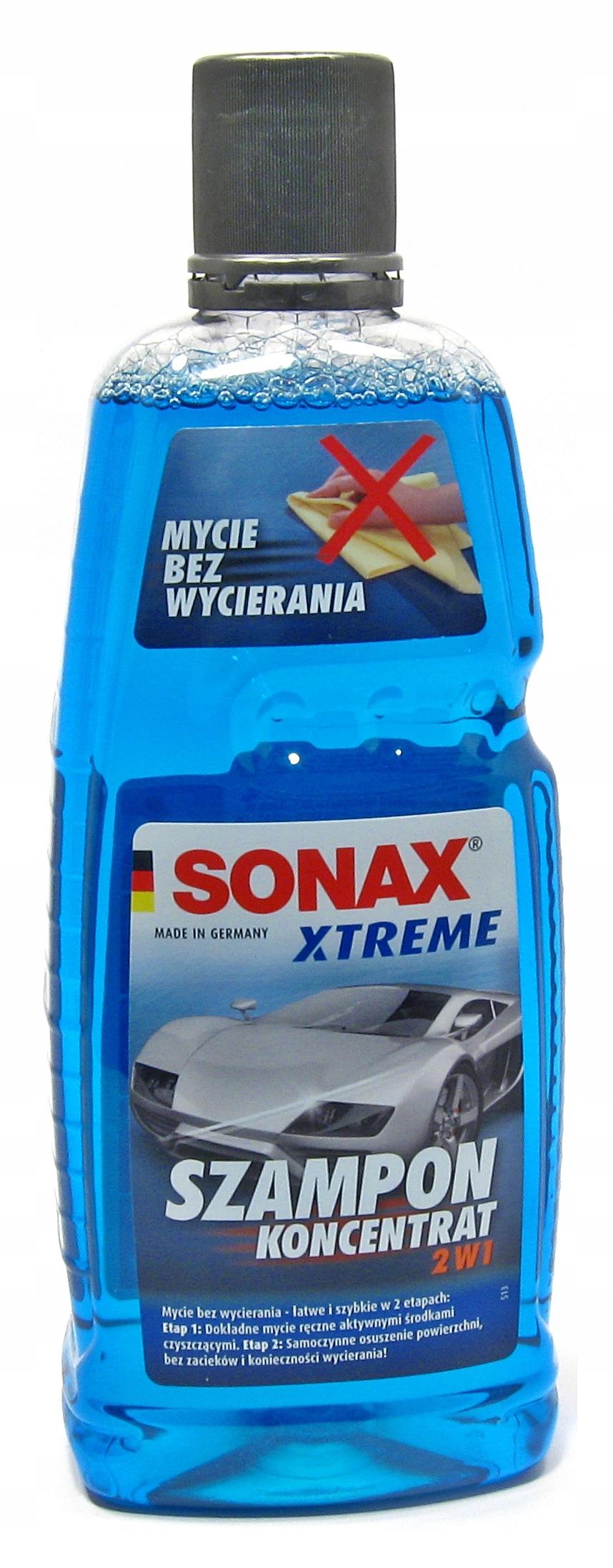 SONAX - автомобильный шампунь с осушителем 2 в 1 - 1 Л