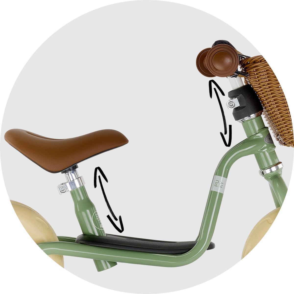 Rowerek biegowy PUKY LR M antracyt koszyk 3099 Kolor inny