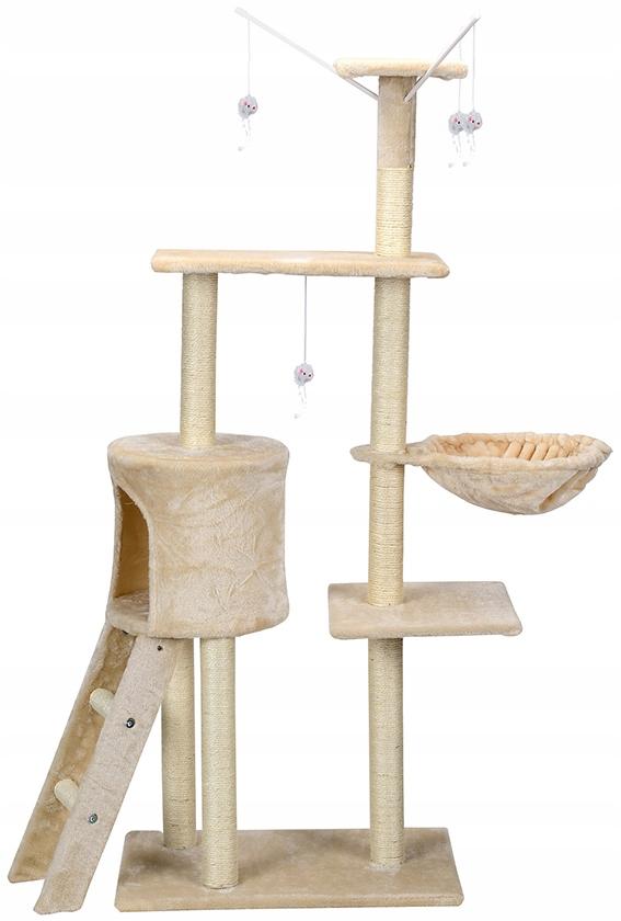 Škrabadlo na mačky, veža, podstielka, domček s hračkami, kód výrobcu 1610