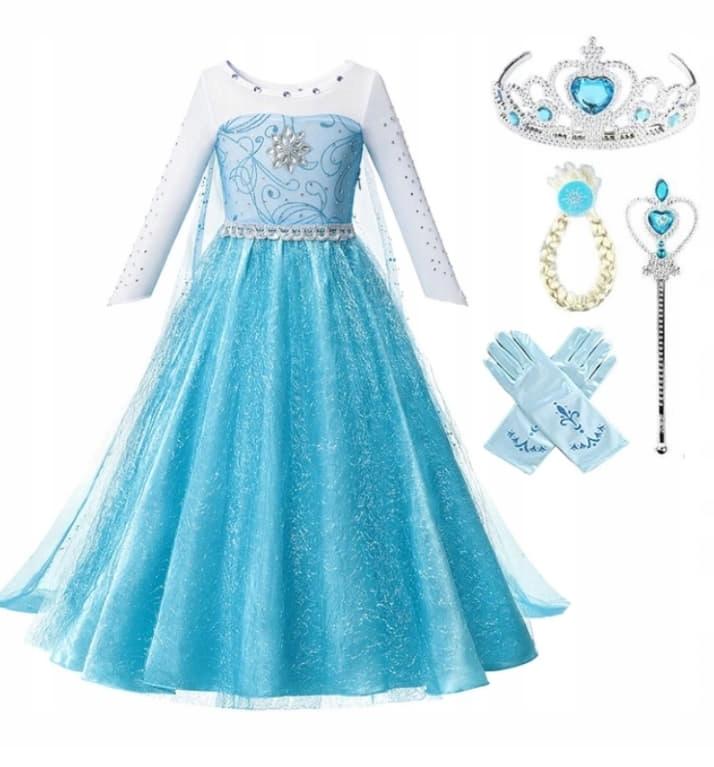 ELSA DRESS Elza Frozen 104 110 3 - 4 года