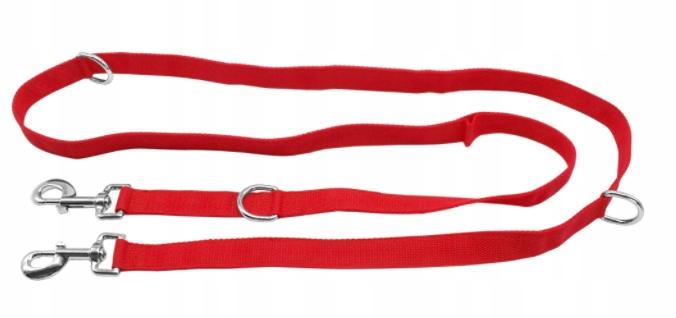 MOCNA SMYCZ PRZEPINANA Treningowa Regulowana 5 m Kolor odcienie czerwieni