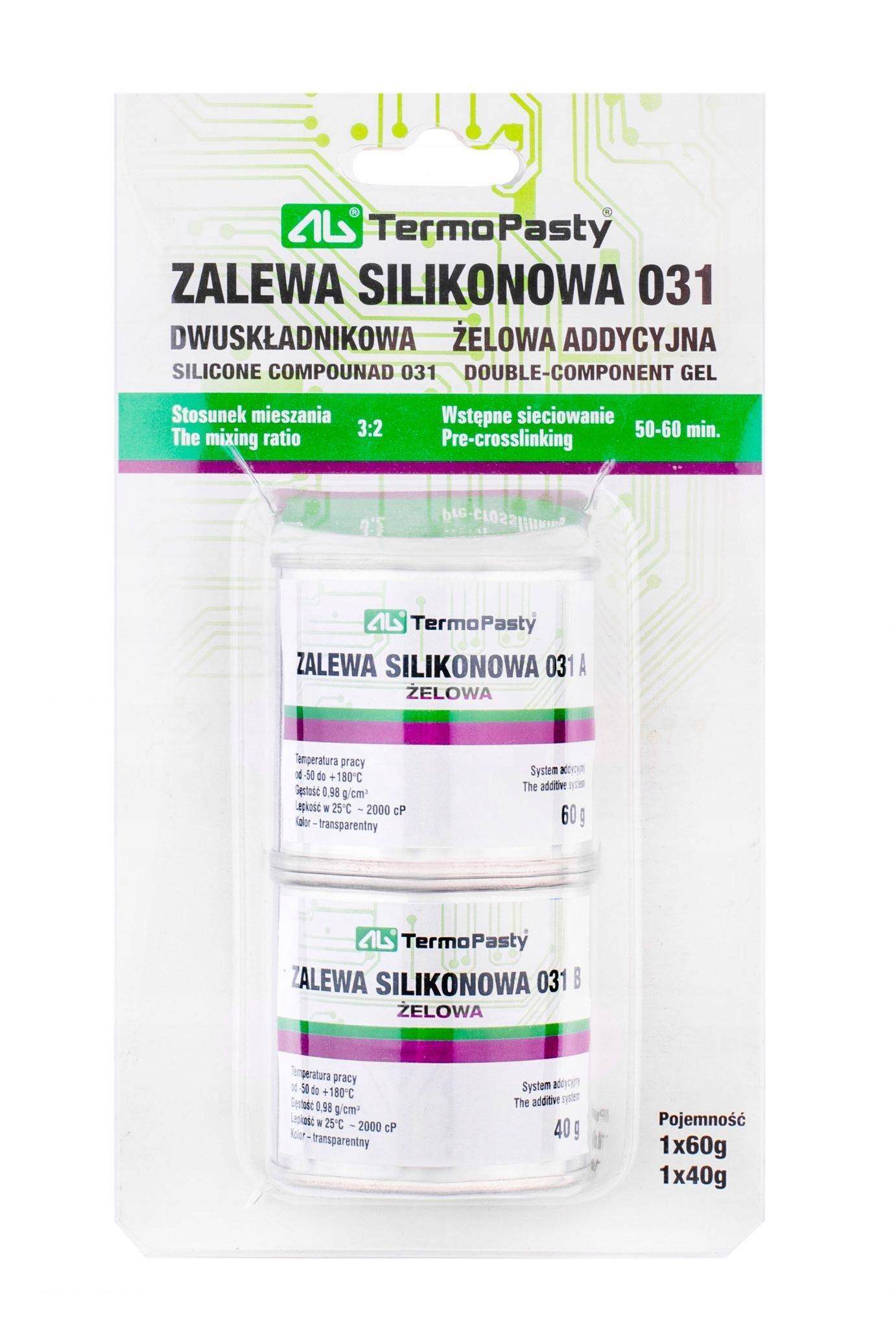 ZALEWA SILIKONOWA DWUSKłADNIKOWA 031 AGT-222