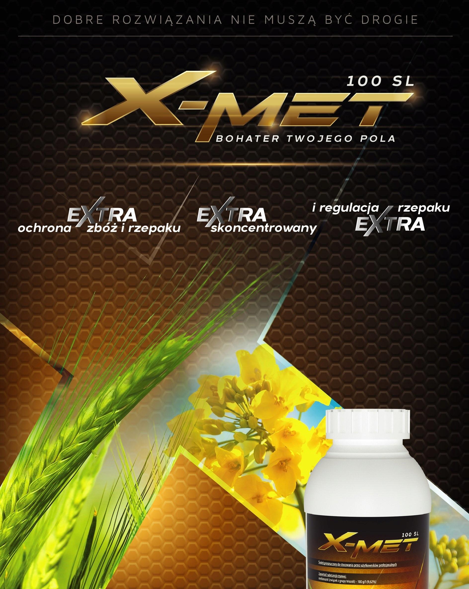 X-MET 100 SL metkonazol GRZYBOBÓJCZY zboża 1L Producent Innvigo