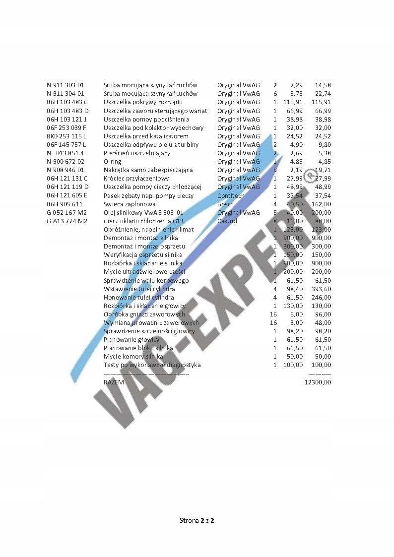 Ремонт двигателя 2, 0 tsi tfsi гарантия 24 mies vat, фото 12