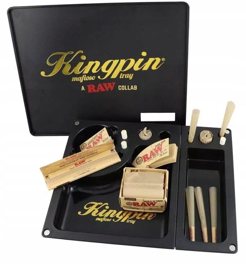 Поднос RAW Kingpin Mafioso с отделениями и крышкой