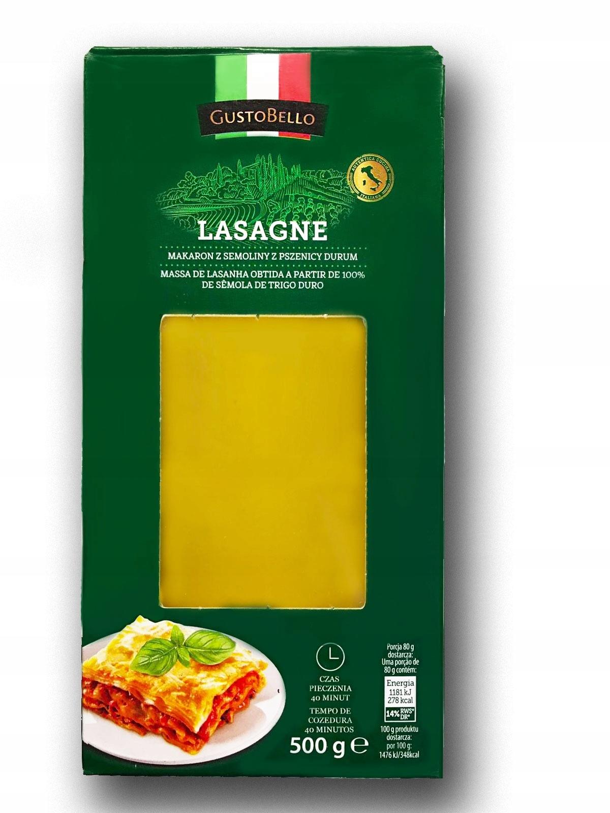 Makaron Lasagne GustoBello 500g