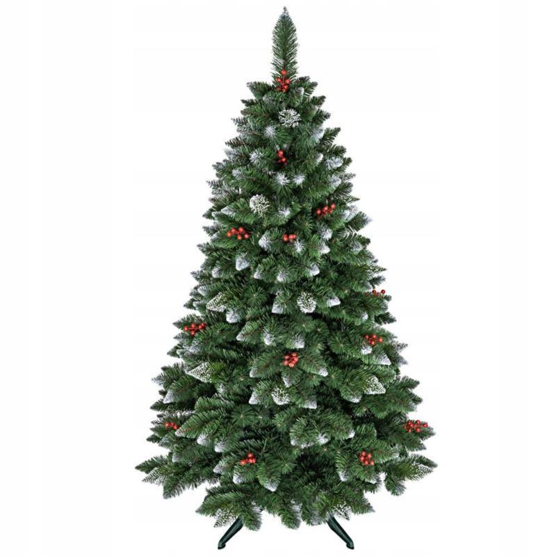 Umelý vianočný stromček, prírodná borovica 180 cm, jarabina