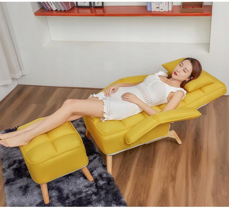 USZAK karosszék lábtartóval Összecsukható állítható 1480 A bútor szélessége 78 cm