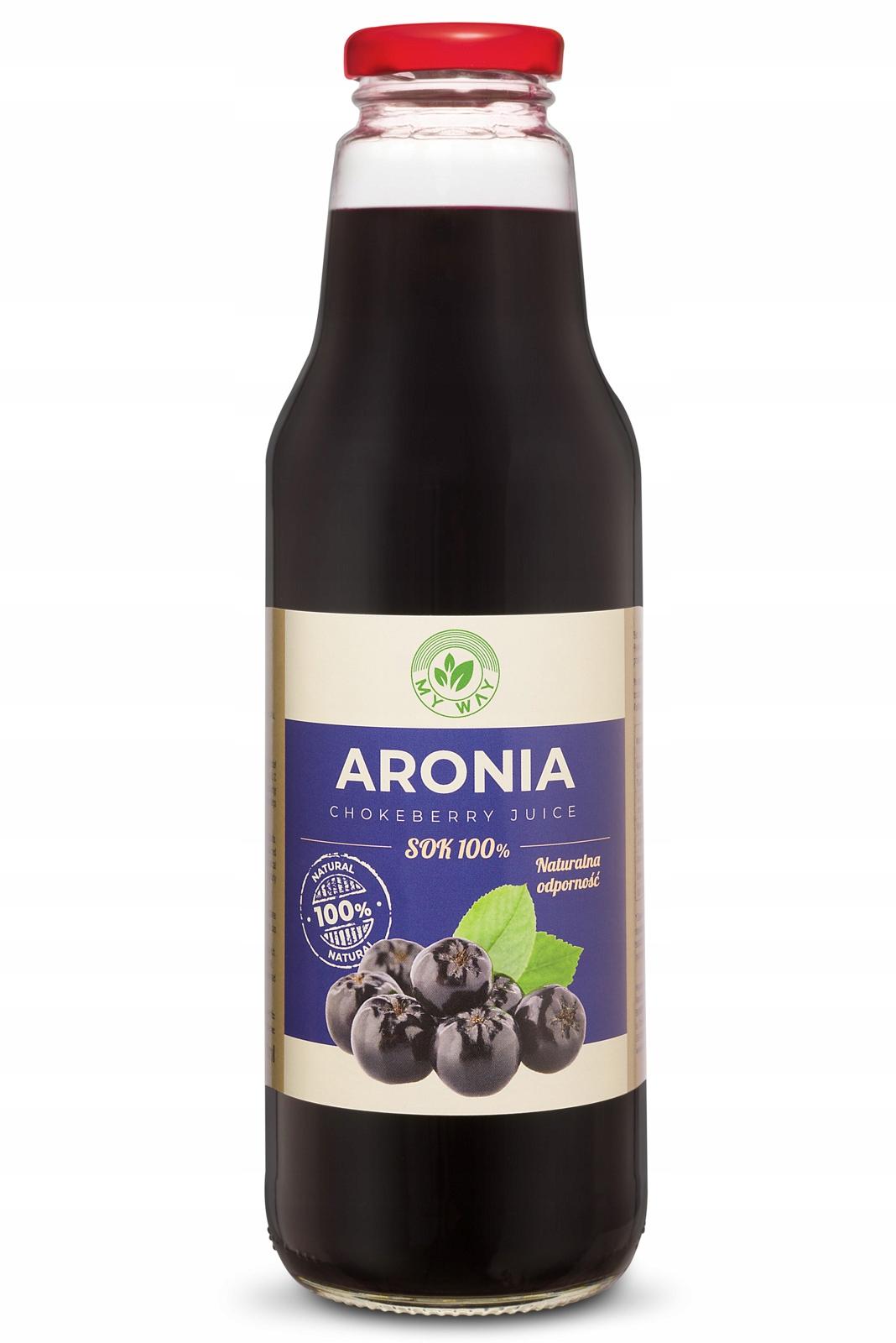 100% устойчивость к соку черноплодной рябины Арония 750 мл MY WAY