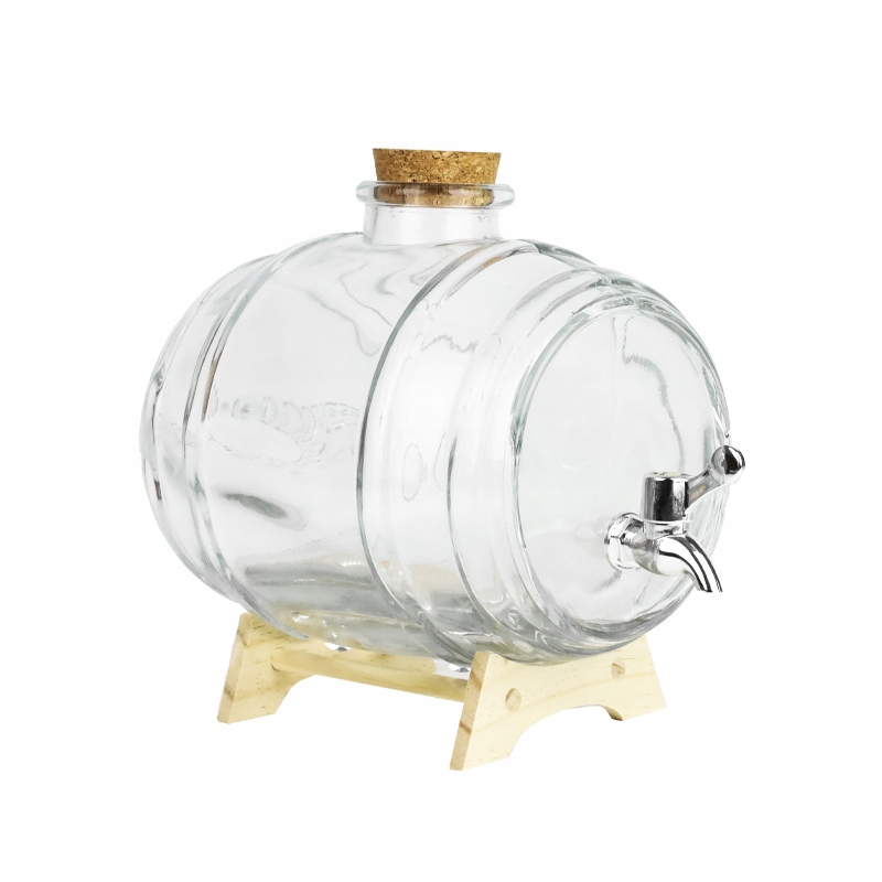 BECZUŁKA SZKLANA NA ALKOHOL Z KRANIKIEM ANTAŁEK 1L