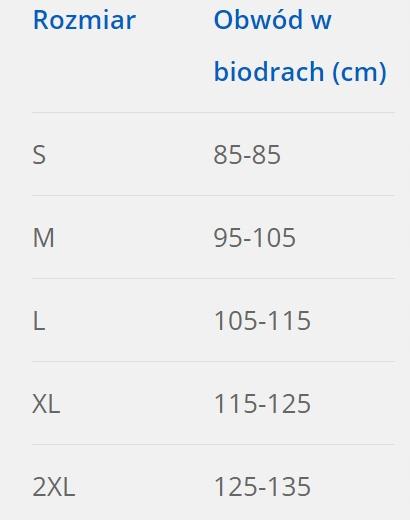 ORTEZA TUŁOWIA WYSOKA SZNURÓWKA DLS608 EMO 2XL Rodzaj orteza piersiowo-lędźwiowo-krzyżowa