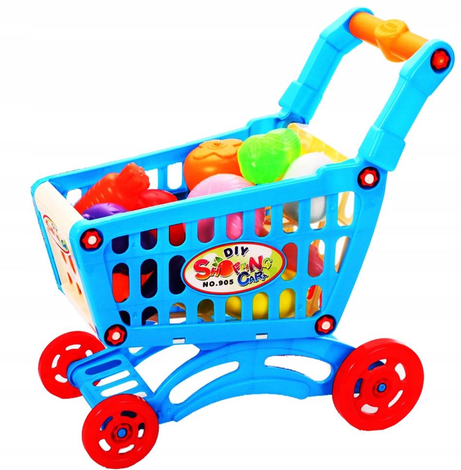 WÓZEK SKLEPOWY NA ZAKUPY KOSZYK Supermarket Wysokość produktu 31 cm