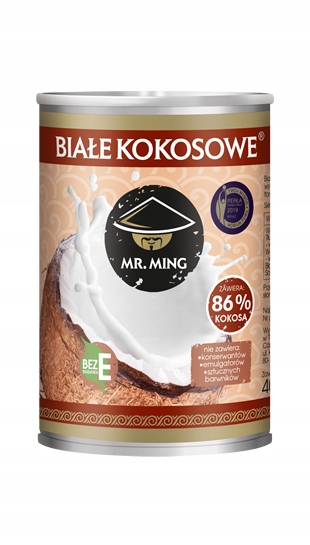 Натуральное плотное кокосовое молоко 86% без E.