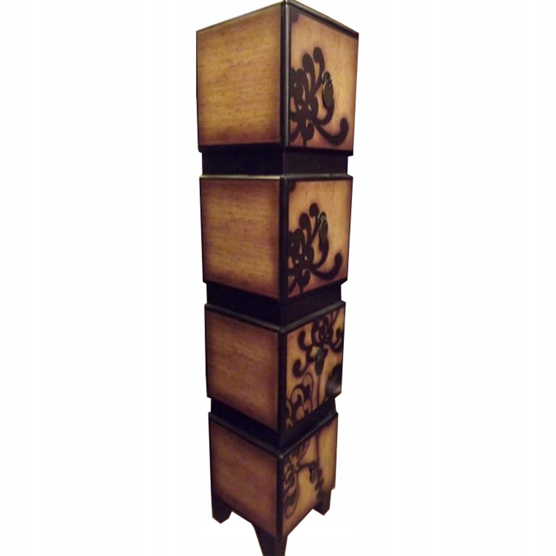 Štýlová skriňa s retro zásuvkami, šatníková knižnica