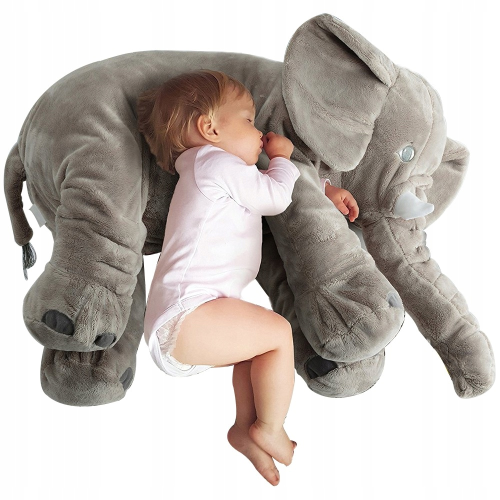ELEPHANT PLUSH CUSHION 50cm 3 farby