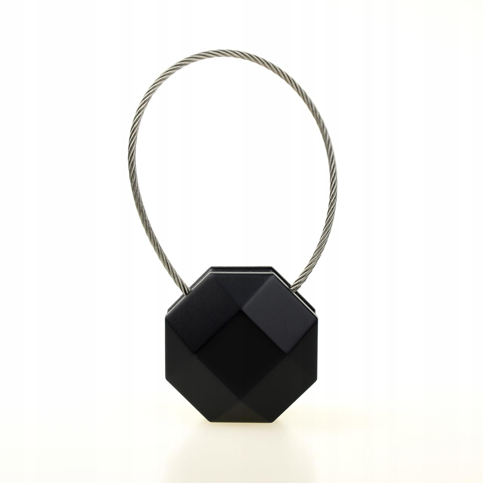 Magnes do upinania firan zasłon - oktagon czarny