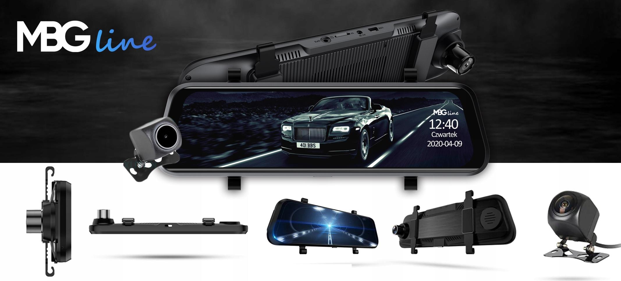 Kamera Rejestrator lusterko 2K+FHD HS900PRO SONY Cechy dodatkowe automatyczny start czujnik ruchu czujnik wstrząsów dwie kamery funkcja kamery cofania HDR/WDR kodek H.264 nagrywanie dźwięku wyświetlacz
