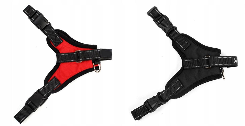MOCNE SZELKI DLA PSA lekkie bezuciskowe 45-55 cm S Kolor czarny odcienie czerwieni inny
