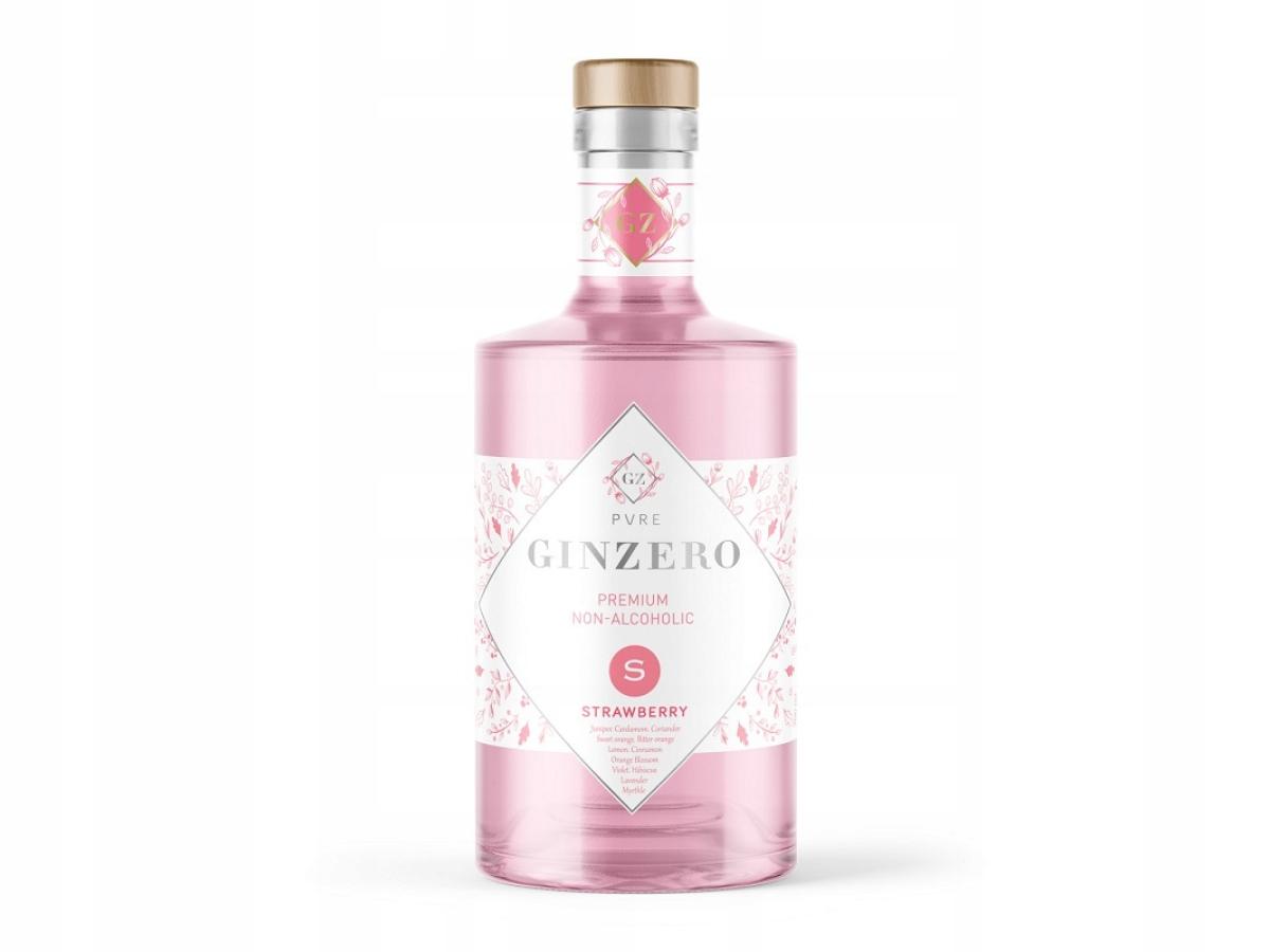 GINZERO 12 BOTANICS STRAWBERRY - gin bezalkoholowy