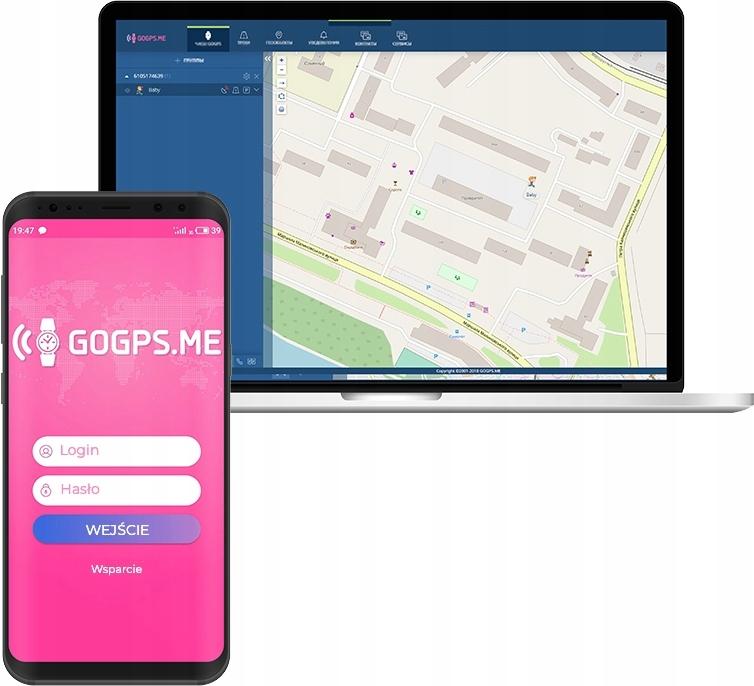 SMARTWATCH DLA DZIECI LOKALIZATOR GPS GoGPS K17 Szerokość koperty 44 mm