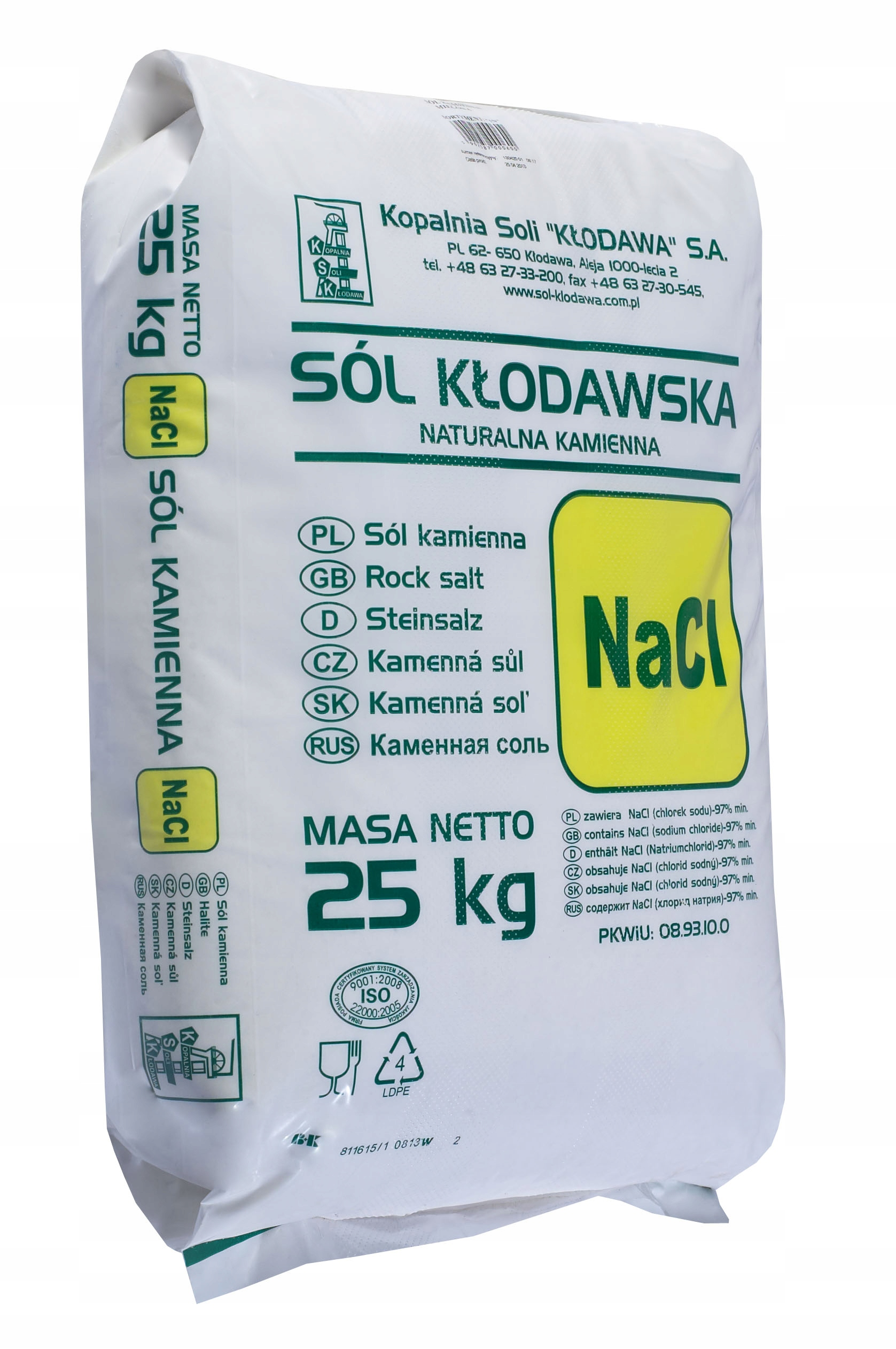 Купить SÓL KŁODAWSKA KAMIENNA SPOŻYWCZA 25 KG ZDROWIE!!! на Otpravka - цены и фото - доставка из Польши и стран Европы в Украину.