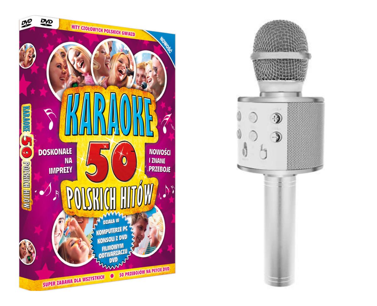 Karaoke 50 Polish Hits + mikrofón s reproduktorom