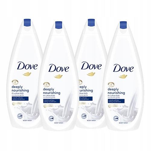 Dove Deeply Nourishing żel pod prysznic 4 x 750ml