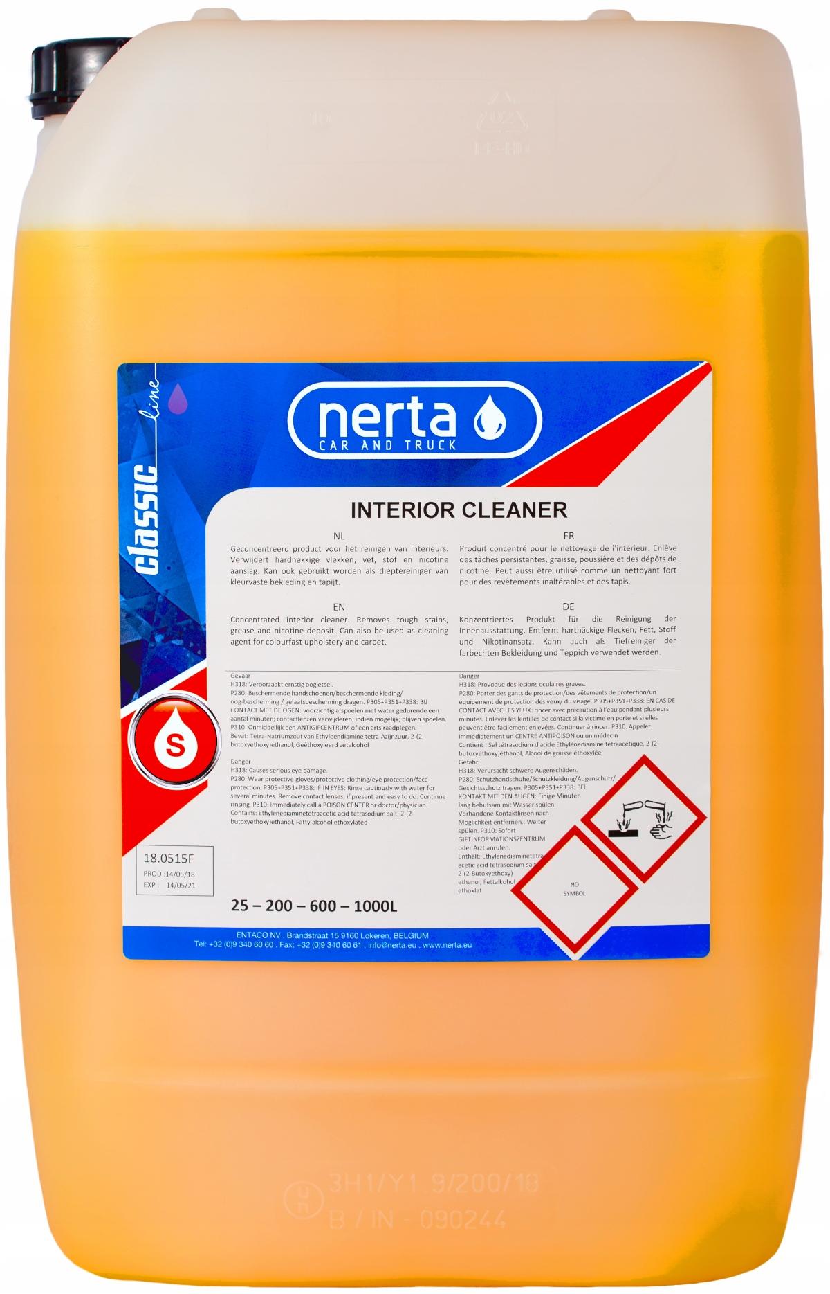 NERTA Interior Cleaner для ковров и обивки 25л