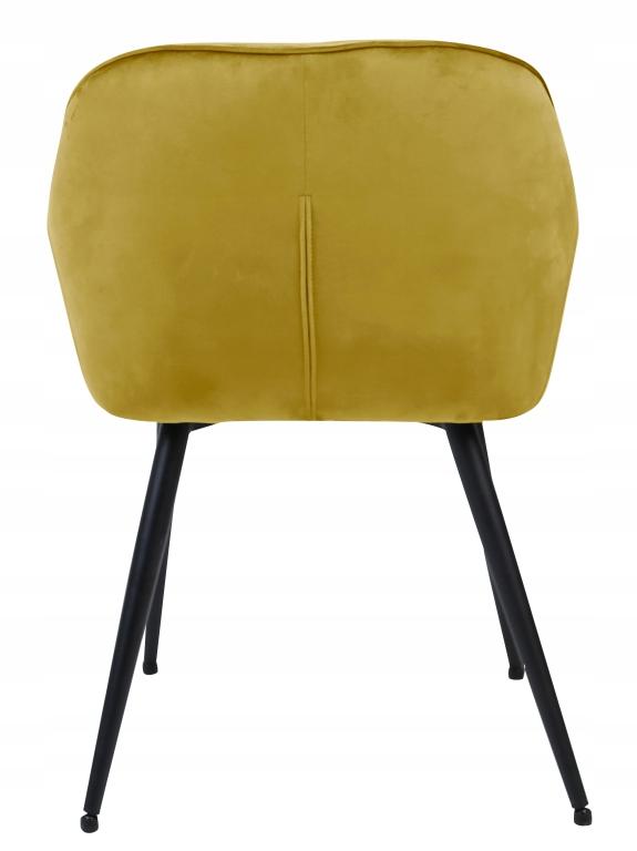 Krzesło tapicerowane Loren velvet curry Głębokość mebla 60 cm