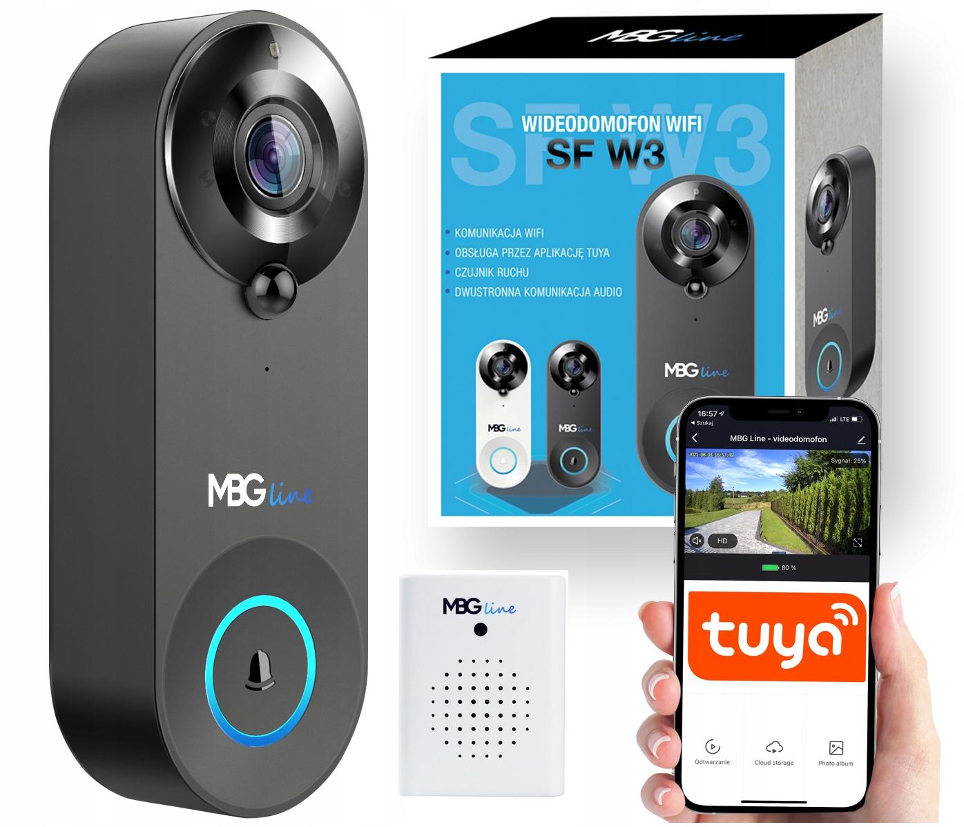 Домофон Камера Дверной звонок FHD WIFI Датчик движения TUYA