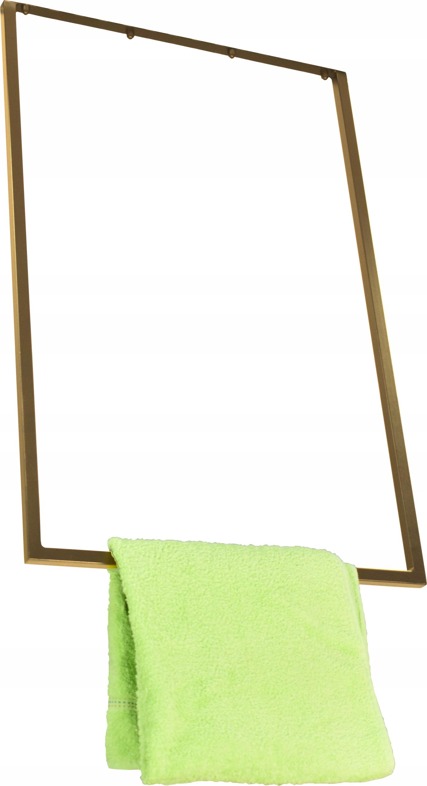 Stropný držiak na uteráky, ZÁVESNÉ Zlato 60x90