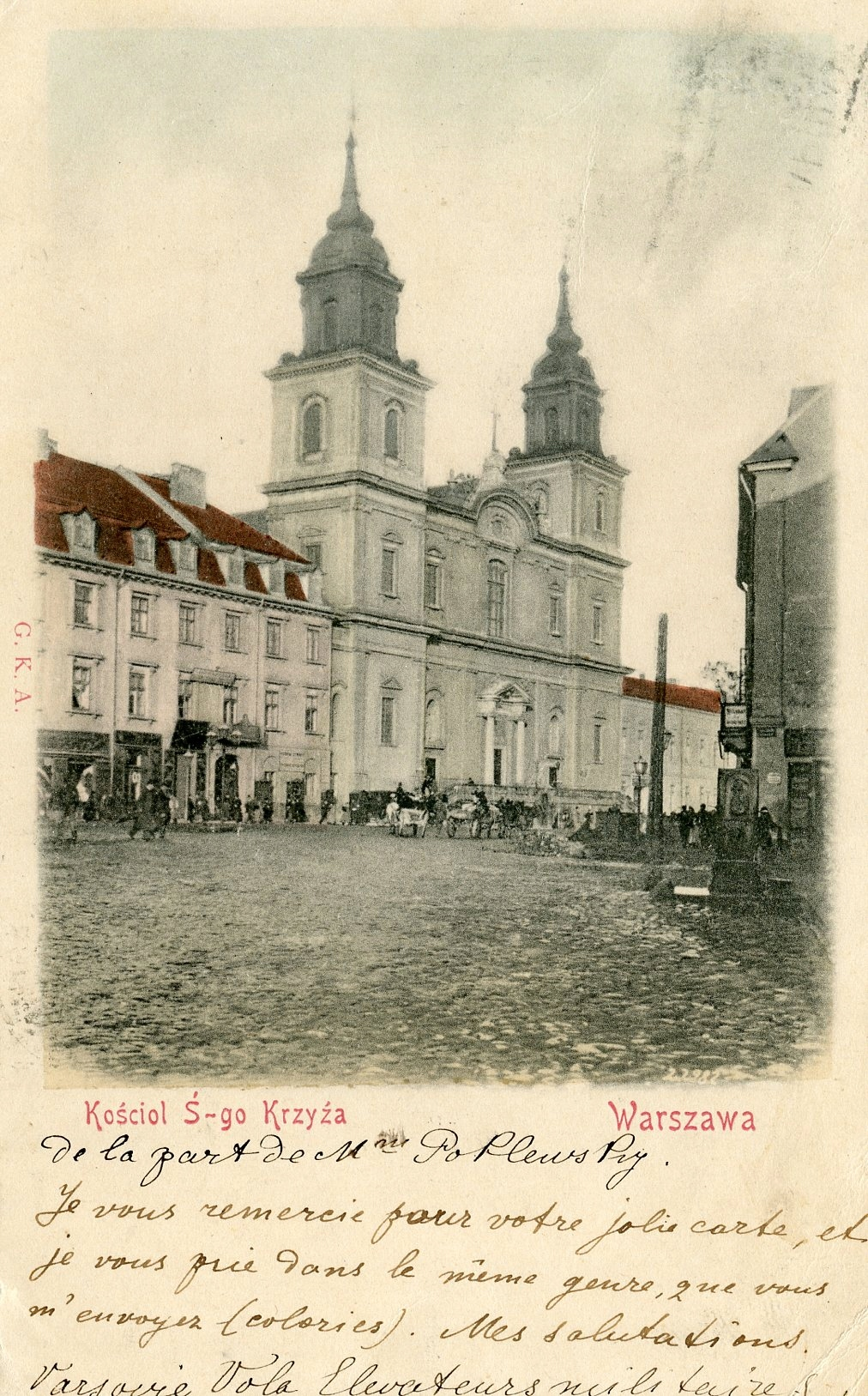 Warszawa. Kościół Ś-go Krzyża- 1900!