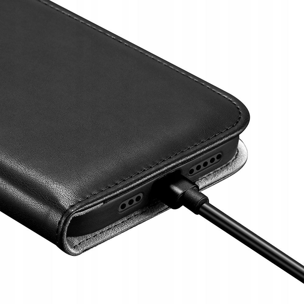 Etui Dux Ducis Kado do iPhone 12 / 12 Pro czarny Materiał skóra ekologiczna
