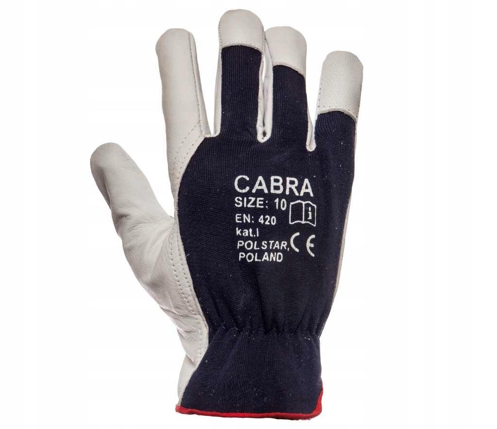 Rękawice wzmacniane skórą licową CABRA !wytrzymałe
