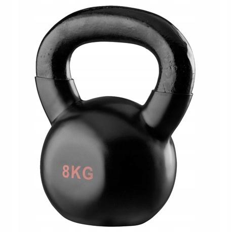Tréning svalov v posilňovni Kettlebell s hmotnosťou 8 kg