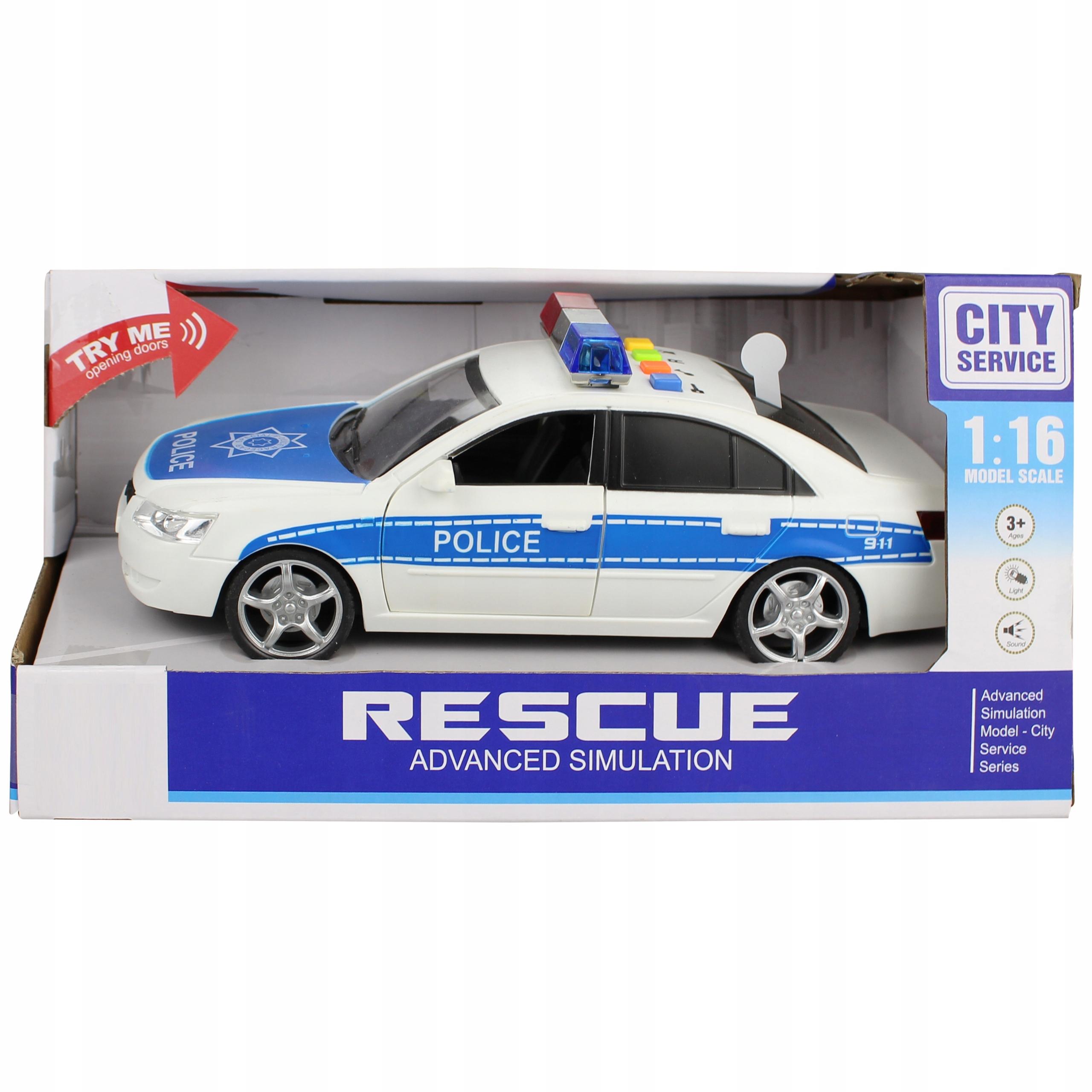 Samochód policyjny otwierane drzwi dźwięki WY560A Płeć Chłopcy