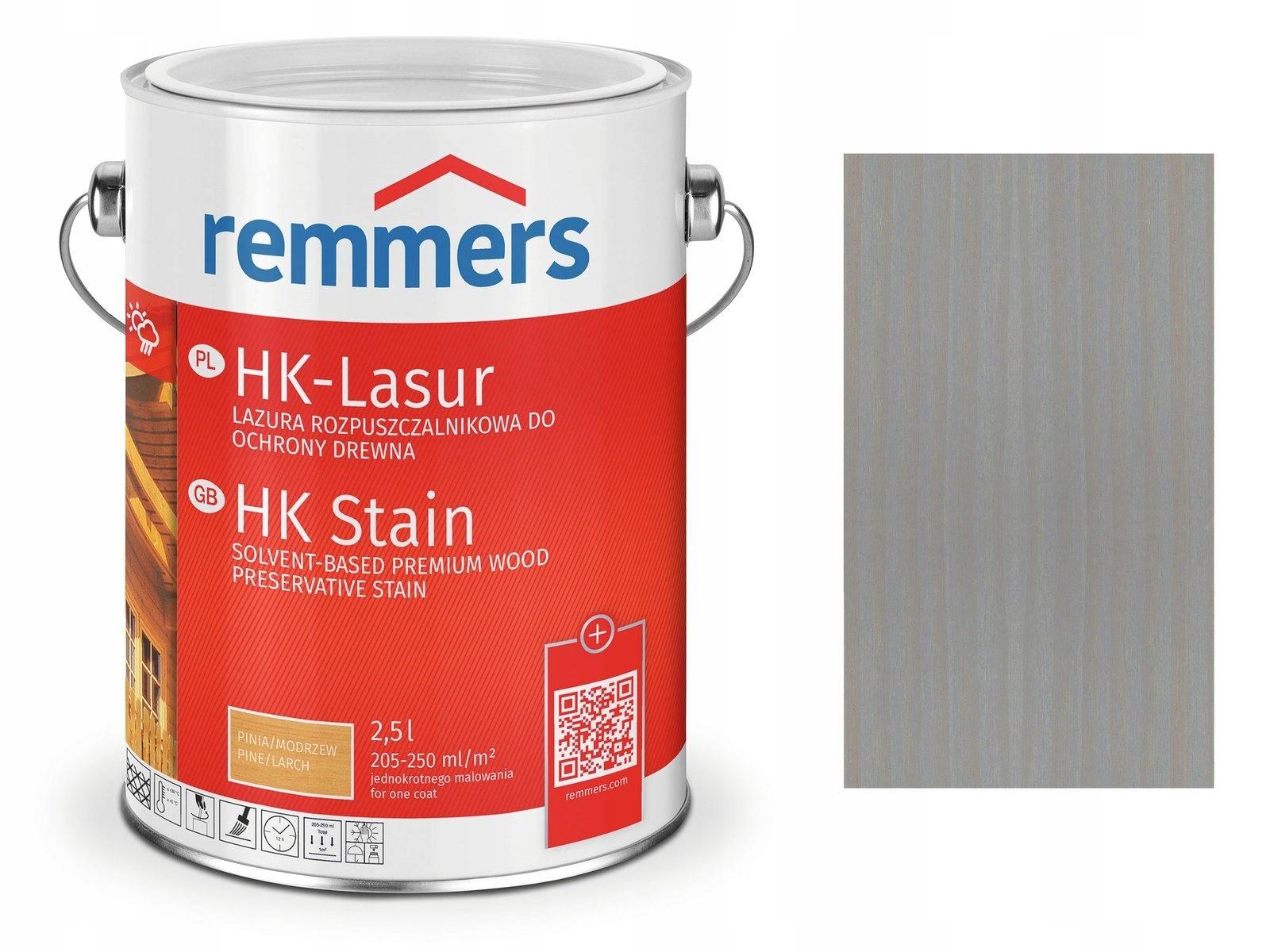 Remmers HK-Lasur-пропитка для дерева 0,75 Л СЕРЫЙ
