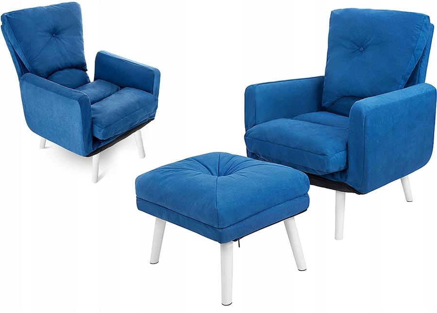 Раскладывающееся кресло Uszak скандинавское с подставкой для ног
