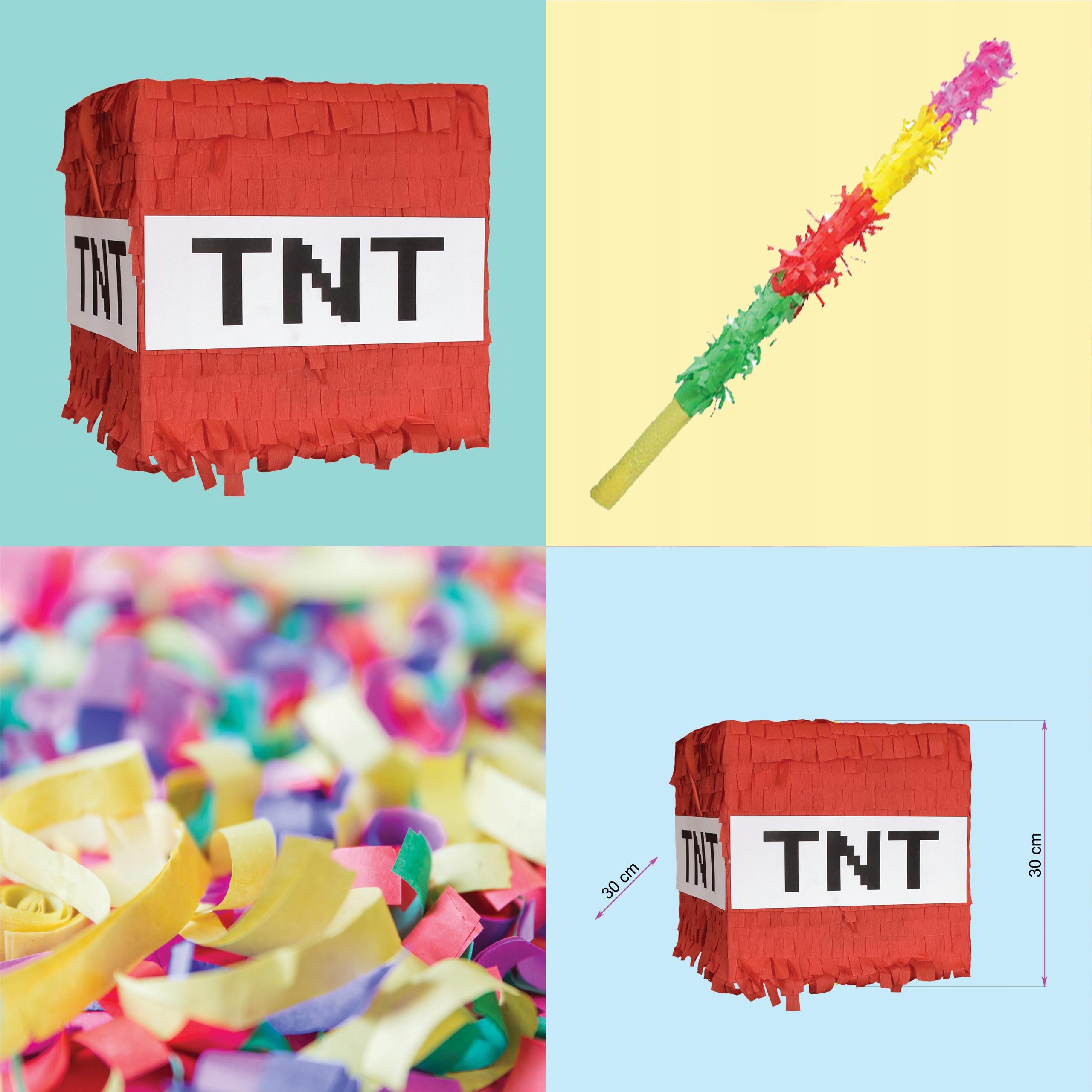 Купить День рождения Piñata XL 30см как MINECRAFT tnt BOMB на Otpravka - цены и фото - доставка из Польши и стран Европы в Украину.