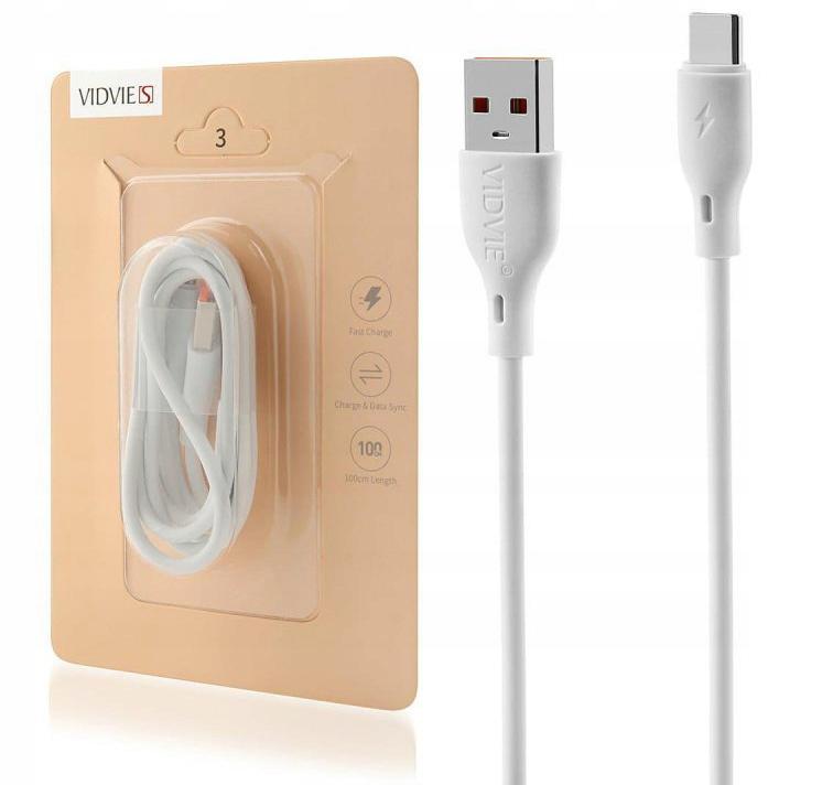 Kabel Szybkie Ładowanie USB Type C 1 metr Kolor biały