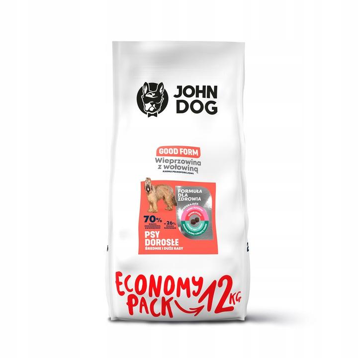 John Dog Good Form M / D Свинина с говядиной 12кг