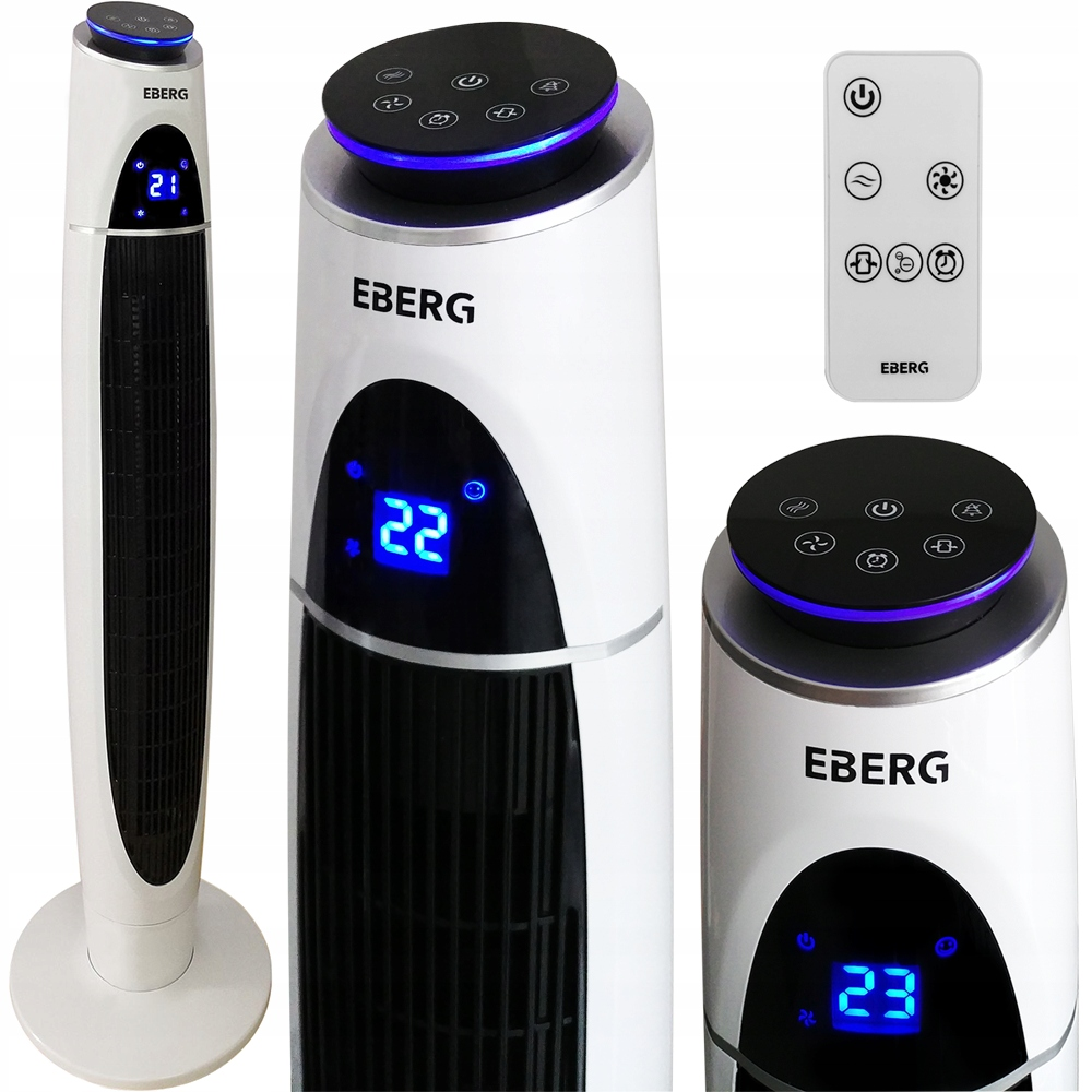 Колонный вентилятор EBERG ACUM LED IONIZACJA XXL