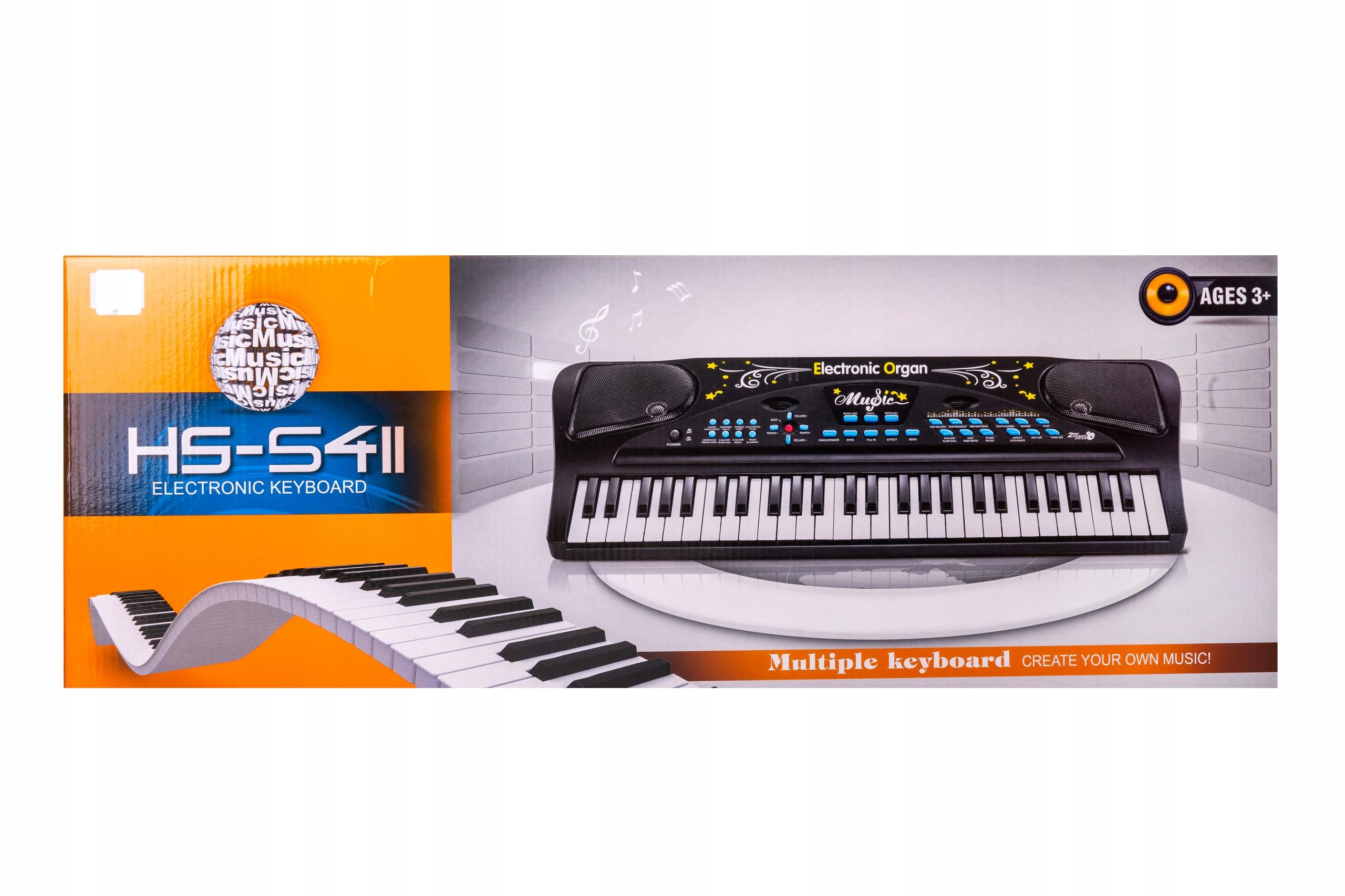 Klávesnica pre organové piano s 54-klávesovým mikrofónom