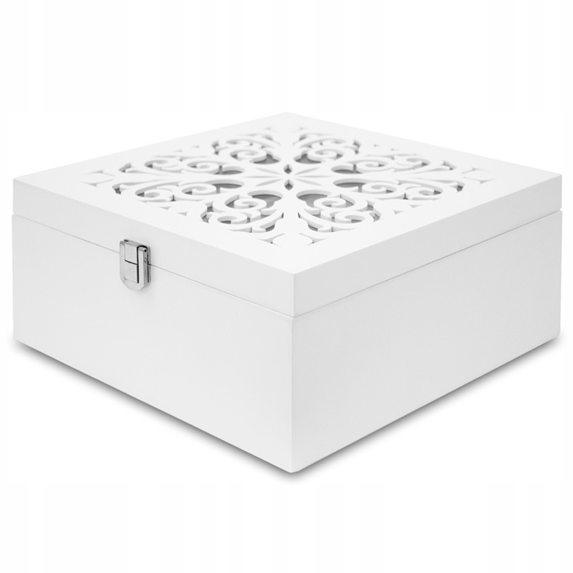 Openwork rakve box šperky biele retro